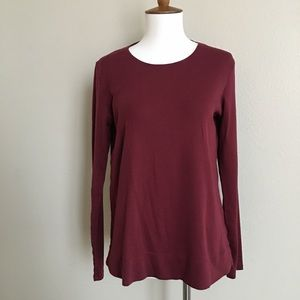 J. Jill size s/small Maroon long sleeve tee